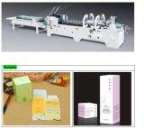 Caixa de papelão em linha reta máquina de colagem de dobragem (GK-650A)