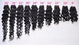 Indische tiefe Wellen-unverarbeitetes Jungfrau-Haar für Salon (Grad 9A)