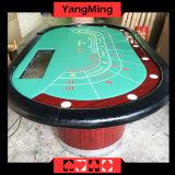 Baccarat-Standardbeschädigung- durch fremdkörperschürhaken-Tisch für Spieler 9 80 Zollbaccarat-Schürhaken-Tisch mit Wärme-Sublimation-kundenspezifischem Drucken (YM-BA04)