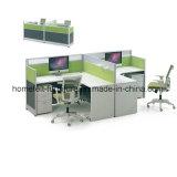 Poste de travail fait sur commande de meubles de bureau avec la partition en aluminium de tissu