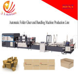 China FULL Automatic Flexo Box Folder Gluer and Bundling Machine