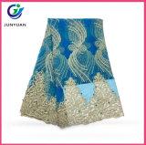 Китай оптовой кружевной ткани с Rhinstones и валики для свадебного платья кружева