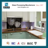 Vetro personalizzato Splashback di stampa della matrice per serigrafia della cucina di disegno