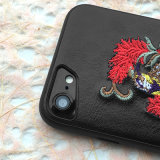 Cubierta personalizada del teléfono del bordado de la caja del teléfono para el iPhone 8 casos móviles