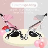 Китайская фабрика оптовая, облегченно, прогулочная коляска младенца алюминиевого сплава способа всходить на борт