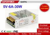 Alimentazione elettrica di commutazione del driver 5V 6A 30W del LED riservata alla stampante 3D