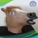 Mascherina animale di gomma del partito di travestimento di natale di Halloween dei capretti della mascherina dell'animale di partito del lattice della mascherina del fronte pieno della testa della mascherina terrificante del cavallo