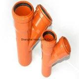 Pipe orange personnalisée et ajustage de précision de PVC pour l'approvisionnement et l'industrie en eau