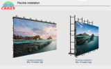 500*500 mm 높은 정밀도 임대 LED 스크린 위원회 (P2.977, P3.91, P4.81)