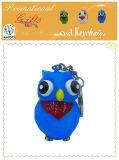 Geschenke für Kind-Auge, blaues Eulen-Tier Keychain knallend