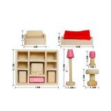 Dollhouse madera Muebles de Salón para niños