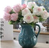 7 fiori artificiali dei fiori comerciano il fiore all'ingrosso di seta Wedding artificiale della Rosa dei gruppi della Rosa del fornitore artificiale della Rosa dei fiori