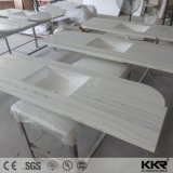 Los materiales de construcción hecho personalizado Superficie sólida de acrílico Cocina Tops (171221)