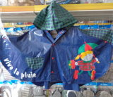 Оптовая торговля детьми Rainwear ПВХ Дождевик Детский трость Poncho