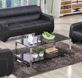 Tavolino da salotto di vetro moderno con gli alti piedini di lucentezza
