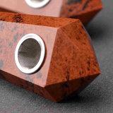 Da tubulação vermelha da mão do Obsidian da tubulação da mão tubulação de fumo material natural de fumo