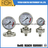 Calibrador de presión lleno de Diaphram de la construcción del acero inoxidable para la medida de la presión inferior