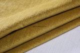 Il colore giallo 2017 brucia il disegno del tessuto del velluto per il sofà