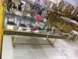 عرس زخرفة ذهبيّة إطار مرآة أعلى زجاجيّة 12 [ستر] [دين تبل] مع بلورة