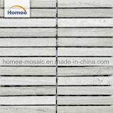 Heißer Verkaufs-Ausgangsdekoration-guter Preis-graue Wohnzimmer-Vierecks-Ziegelstein-Marmor-Mosaik-Fliese