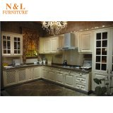Gabinete de cozinha Home luxuoso da madeira contínua da mobília com Blum Handware