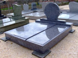 Pietra tombale blu del granito della lastra blu del granito delle mattonelle del granito dell'azzurro di ghiaccio