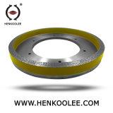 Diamante bond da resina que esquadra a roda (camada de trabalho com canal)