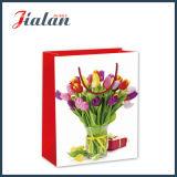 Nach Maß schöne Blumen, die Einkaufen-Träger-Geschenk-Papierbeutel packen