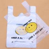 t-셔츠 Compostable 플라스틱 쇼핑 백 주문 로고 생물 분해성 부대