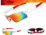 Do material UV das lentes do PC de Hotsale o estilo de ciclagem dos óculos de sol da equitação marcado ostenta óculos de sol