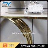 現代流行のステンレス鋼のコンソールテーブル