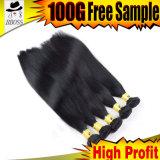 Cheveu noir brésilien de trame de gicleur de cheveux humains