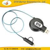 De nieuwe Draagbare Multifunctionele Intrekbare Kabel USB van de Aankomst voor Ios, type-C en Androïde