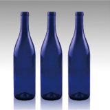 Venda por atacado de vidro azul romântica do frasco de vinho da fruta da geada 750ml da cor