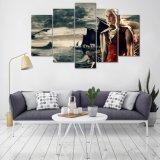 Spiel des HD Druck-5PCS Throne Daenerys Targaryen der Segeltuch-Kunst, die modernen Hauptdekor-Wand-Kunst-Abbildung-Farbanstrich mit gestaltet anstreicht