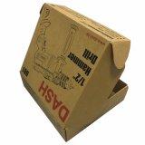 브라운 Kraft 종이 로고 인쇄를 가진 물결 모양 화물 박스