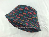 Sombrero al aire libre impreso aduana del compartimiento