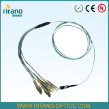 Câble optique de joncteur réseau de fibre de MPO-LC/PC millimètre assemblant Patchcords