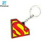 Smalto molle Keychain del superman di Kunshan del metallo su ordinazione di marchio