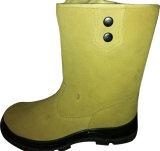 Высокое качество черный цвет Высокая посадка коровы защитная обувь из натуральной кожи