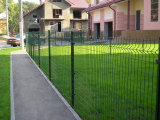 アクセサリの安い錬鉄の塀の波形の金属の庭の終りの安全網の塀が付いている網