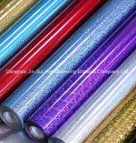 Алюминиевая фольга пленки любимчика голографическая горячая штемпелюя для кода штриховой маркировки