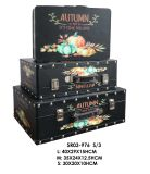 ホーム装飾の秋様式のスーツケースの宝石類Box