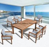 Таблица и стул напольного Teak мебели деревянная обедая для сада