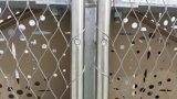 ステンレス鋼ワイヤーロープの網の塀か動物園の網の塀