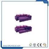 Кровать софы горячего сбывания самомоднейшая складывая в ткани