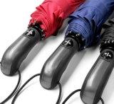Entièrement automatique Tri-Folded dix Stick Double parapluie d'affaires