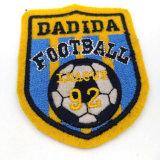 Étiquette brodée par coutume pour des chemises du football