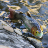 Décoration de flottement de jardin de poissons de monstre de lac Polyresin