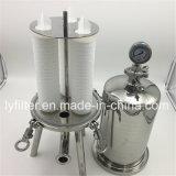 3 Posição 10 Polegadas de precisão de aço inoxidável do alojamento do filtro de cartucho Mícron